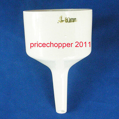 80mm Porcelain Buchner Funnel Filtration Filter for vacuum suction filting