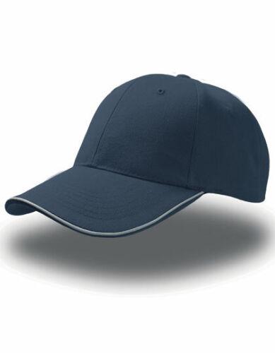 Riflettente Baseball Cap Basecap con Reflekt Piping