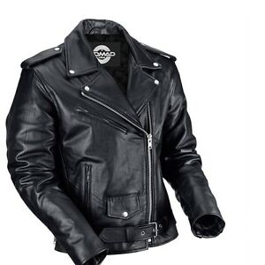 654267b1e43f3 Classic Leather Motorcycle Motorbike Biker Jacket For Men Clothing, Shoes &  Accessories