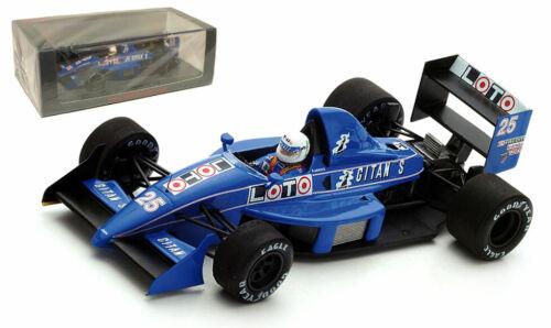 Spark S3968 Ligier JS31 #25 GP 1988 japonés-Rene Arnoux escala 1//43