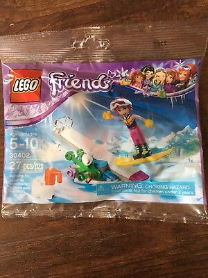 Lego Friends Snowboarding 30402 27 pcs Polybag New Free Shipping with Mini Fig.