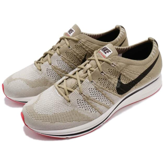 pretty nice 8ade0 730b0 Nike Flyknit Trainer Neutral Olive Velvet Brown Men Shoes Sneakers  AH8396-201