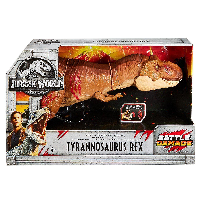 Jurassic World daños de batalla Roarin 'Rex Dinosaurio súper colosal Tiranosaurio