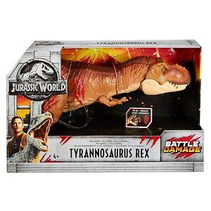 Jurassic-World-Battle-Damage-Roarin-039-Super-Colossal-Tyrannosaurus-Rex-Dinosaur
