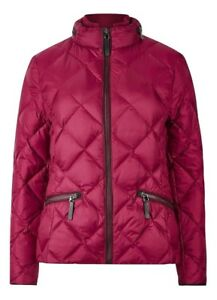 Rrp Giacca s Red Stormwear Feather trapuntata Raspberry Womens M 79 con Ex £ Down WPBn1TwSpq