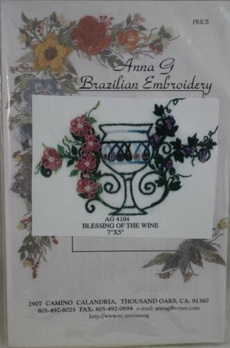 Blessing of the WinePicture Anna G Brazilian Embroidery AG4104 Ivory