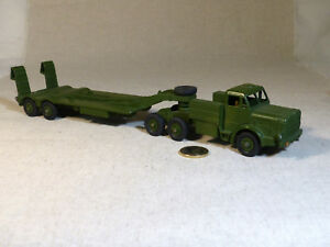 Dinky 660 Camion Militaire Mighty Antar Et Remorque Porte-char Tank Transporter