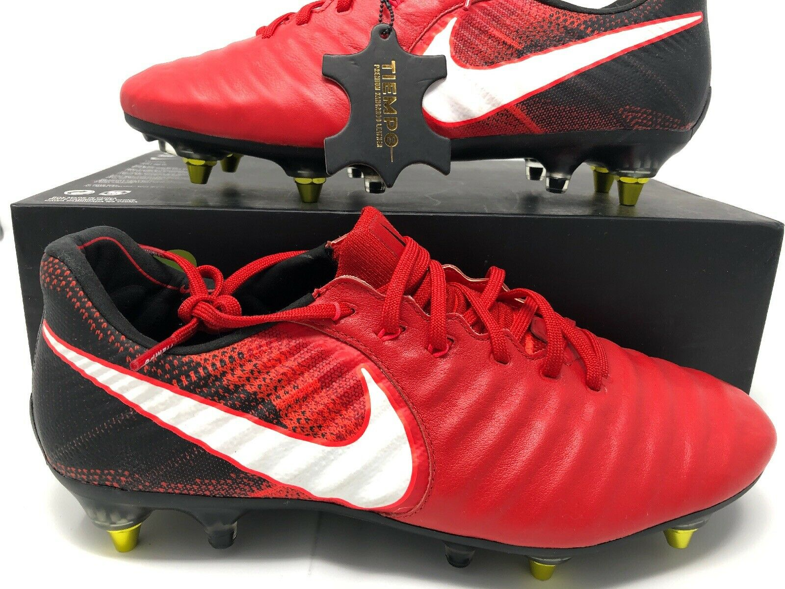 Nike Tiempo Legend VII SG-Pro AC University Red White Black 917805 616 Size 8.5