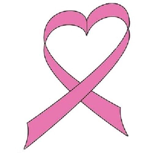 Breast Cancer Ribbon Heat Press Transfer Print For T Shirt