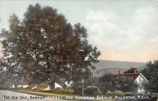 1908 Old Oak Barton St. & Dutchess Ave. Millerton NY post card Dutchess county