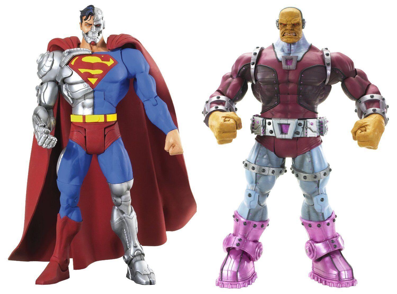 DC universo colección _ Cyborg súperman & Mongul 6 figuras  _ enemigos súper 2-Pack