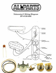 WIRING KIT-FENDER® TELECASTER TELE Complete with Schematic ...