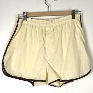 """Mens Translucent Shiny thin Swim Unlined boxer Shorts Light shell White L 36/"""""""