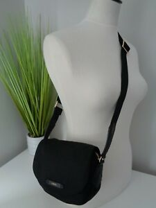 BNWT-Lancel-Small-Black-Nylon-Flap-Crossbody-Bag