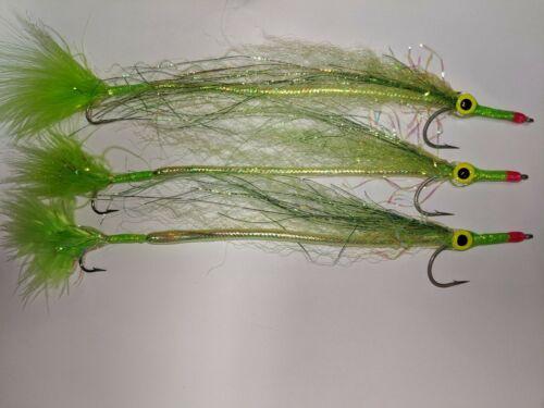 3ea Chartreuse Tandem Cuda Fly Chartreuse Barracuda Fly