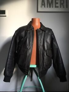 Men s Jacket Type A-2 Flyers SZ M Leather US Army Air Force Bomber ... 5ab7607f58df