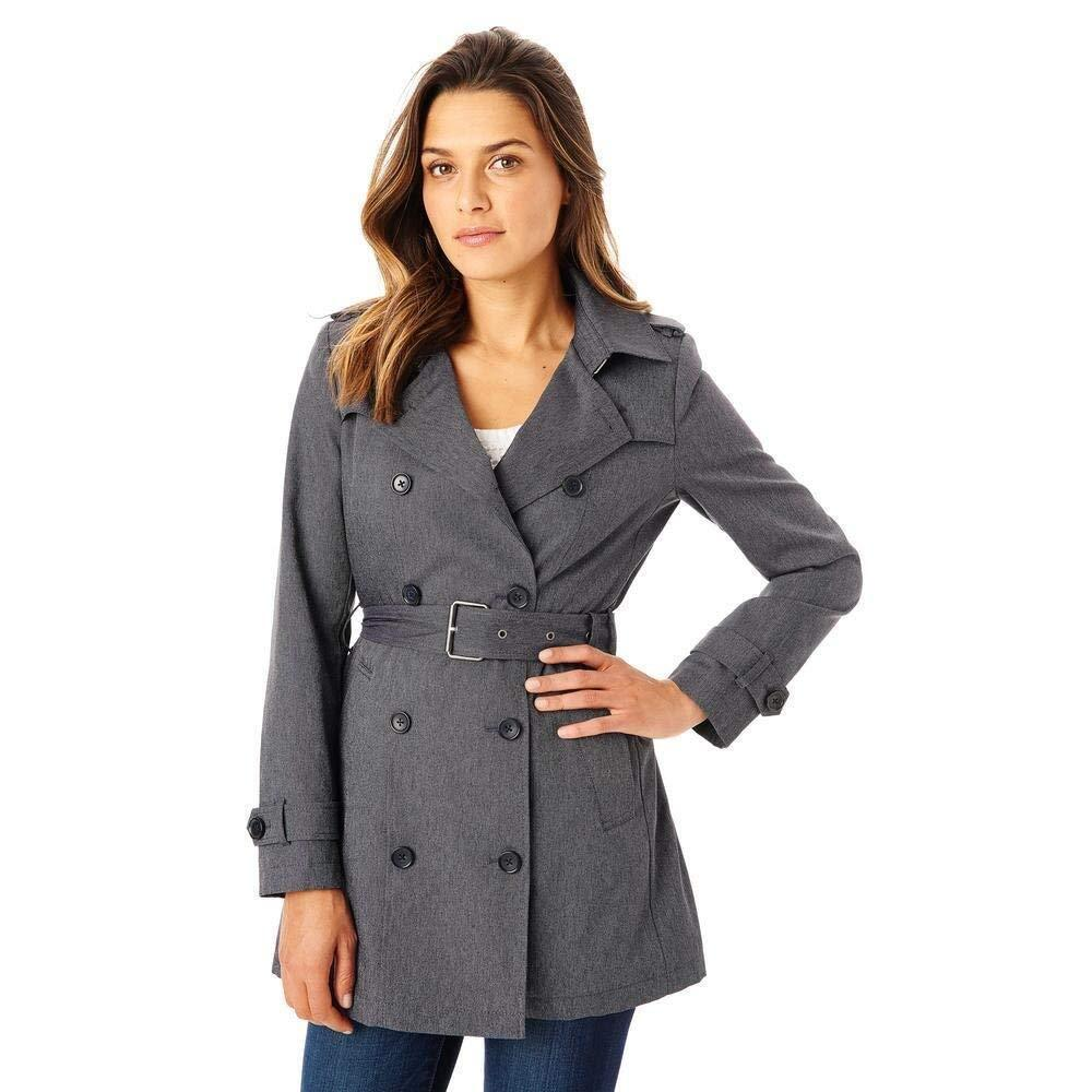 G.H.BASS & CO Women's ALENA DENIM DOUBLE BREASTED TRENCH COAT
