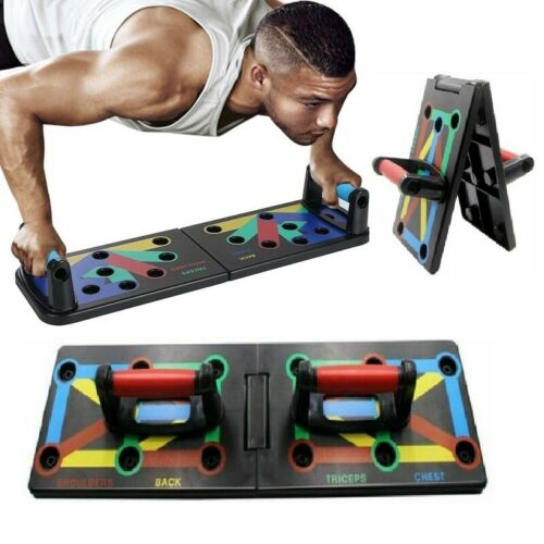 Foldable Power Press Push Up Board Push-up Stands Gym Fitness Body Training QW