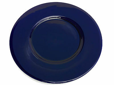 "Crate & Barrel Cobalt Blue 13"" Round Charger Plate Made in Italy"
