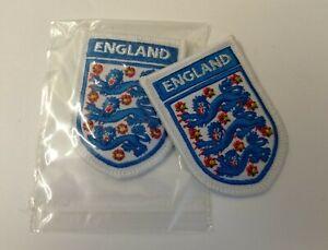 Obsolet Gepolstert Bestickt England Internationale Fußballmannschaft Insignia