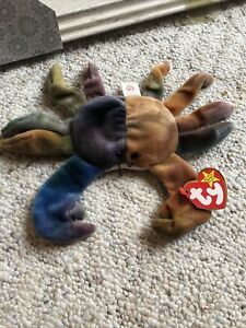 Life-changing Retired TY BEANIE BABY CLAUDE CRAB RARE 1996