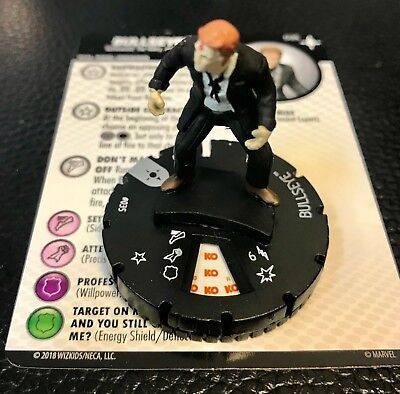 Battleworld set Bullseye #035 Rare figure w//card! Heroclix Secret Wars