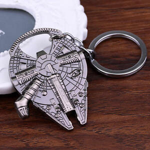 Millennium-Keychain-Keyrings-Falcon-Star-Wars-Han-Solo-Ship-Barkey-Bottle-Opener