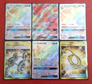 Carte-Pokemon-Soleil-et-Lune-3-GX-Rainbow-Holo-NEUVES-Francais