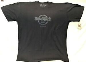 HARD ROCK CAFE NASHVILLE RAISED CLASSIC LOGO BLACK T-SHIRT SIZE ADULT XX-LARGE