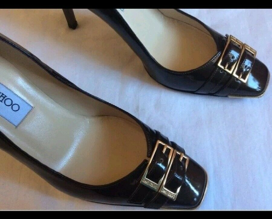 Authentic Jimmy Choo Chocolate Brown Pumps Pumps Pumps Heels Size 36 72fbe6