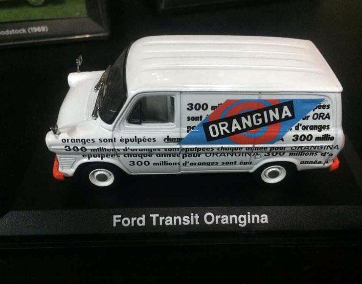 Sällsynta - 1  43 skala DieCast modellllerler bil - Ford transit Orangina
