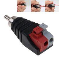 1/2/5X Altavoz Cable a RCA Macho Audio Adaptador De Conector Jack Plug LED CCTV