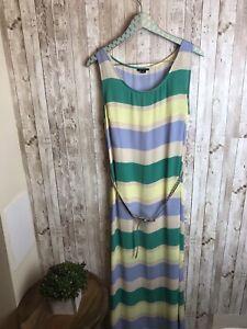 I-Heart-Ronson-Women-039-s-Striped-Long-Maxi-Dress-Sleeveless-Sz-XL