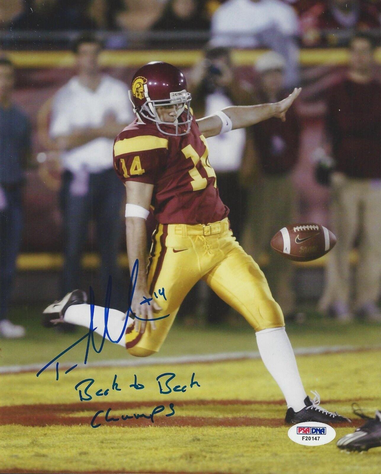 Tom Malone USC Trojans Signed 8x10 Photo PSA/DNA F20147
