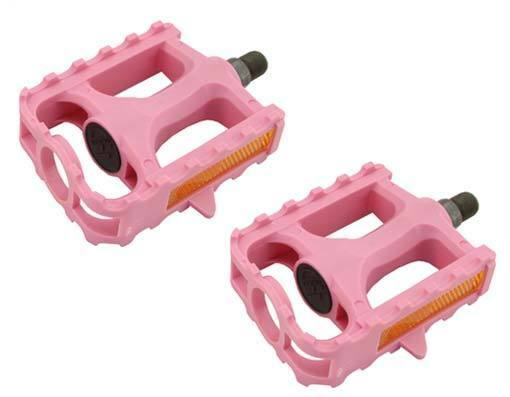 "KIDZAMO BUTTERFLY PLASTIC PINK  1//2/"" BICYCLE PEDALS"