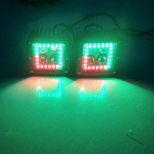14 20 22 32 42 50inch Led Work Light Bar RGB Halo Ring Chasing Bluetooth Control