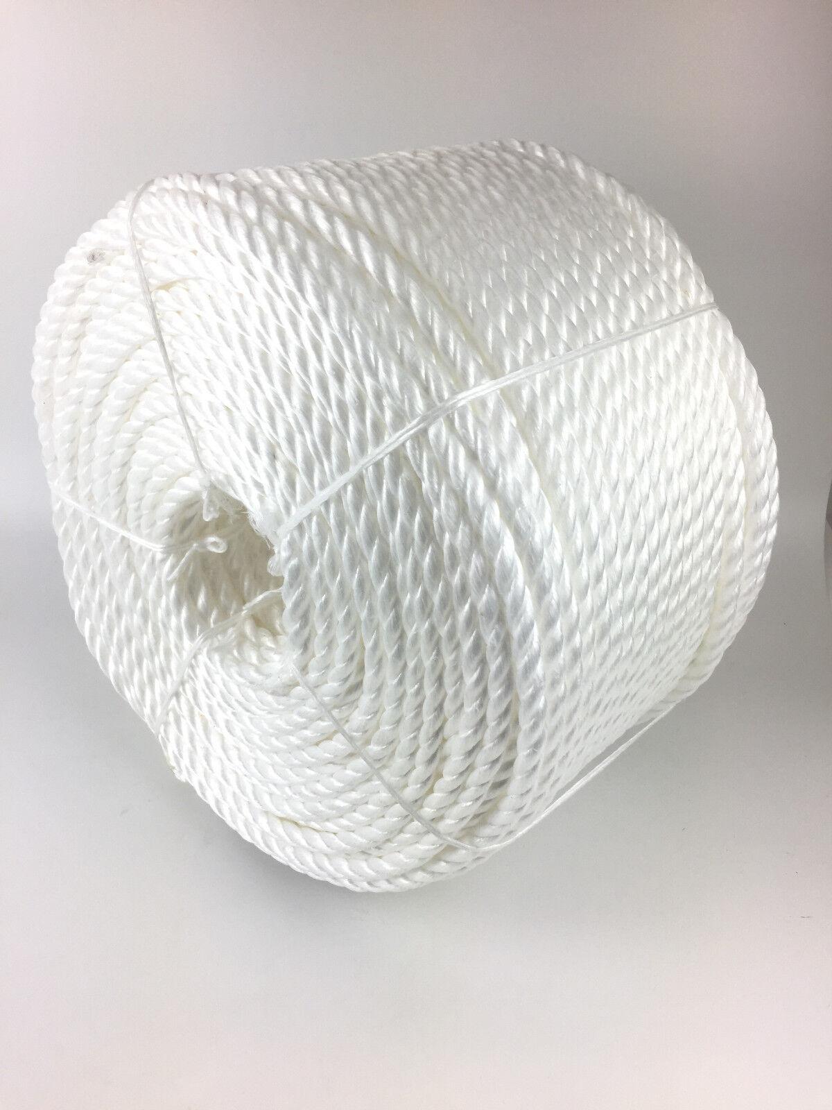 12mm weiß Polypropylen Seil 220 Meter, Poly-Seil Rollen, preiswert Nylon Seil