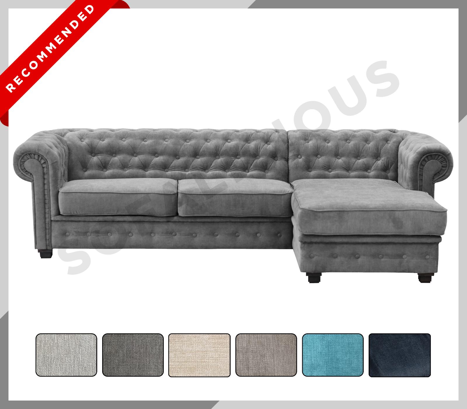Picture of: Argos Home Hampstead Left Corner Sofa Ocean Blue For Sale Ebay