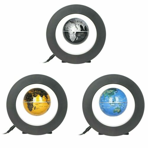 C Shape LED World Map Globe Magnetic Levitation Floating Globe Home Office Decor