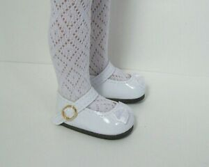 "DIANNA EFFNER 13/"" LITTLE DARLING DOLL SHOES BLACK WHITE MARY JANES ANKLE STRAPS"