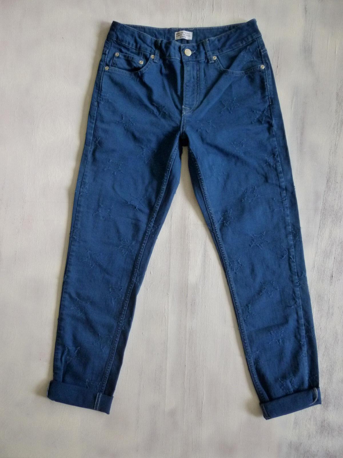 Pepe London REBORN Rosie slim Taperot mid-waist Jeans Hose Gr 34-36 W27 L29 Neu