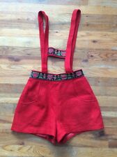 Vintage Lanz Lederhosen Red w Hearts & Couple - Perfect For Valentines Day