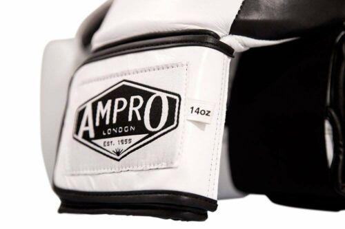 AMPRO MADISON Hook e Loop Sparring Guanti Bianco-Spar//Pugilato//Formazione