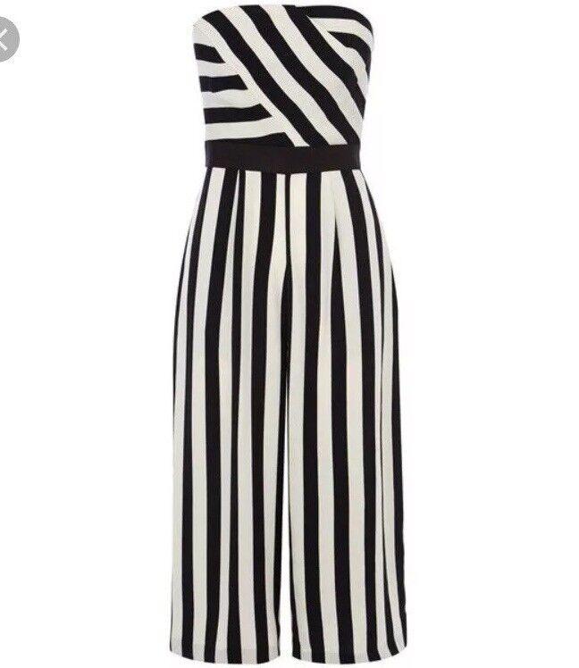 Coast Selena Stripe Jumpsuit Size 12
