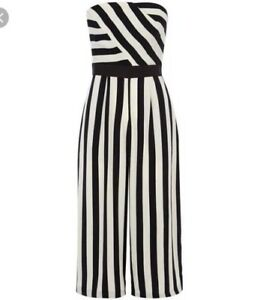 38eb5f962145 Image is loading Coast-Selena-Stripe-Jumpsuit-Size-12