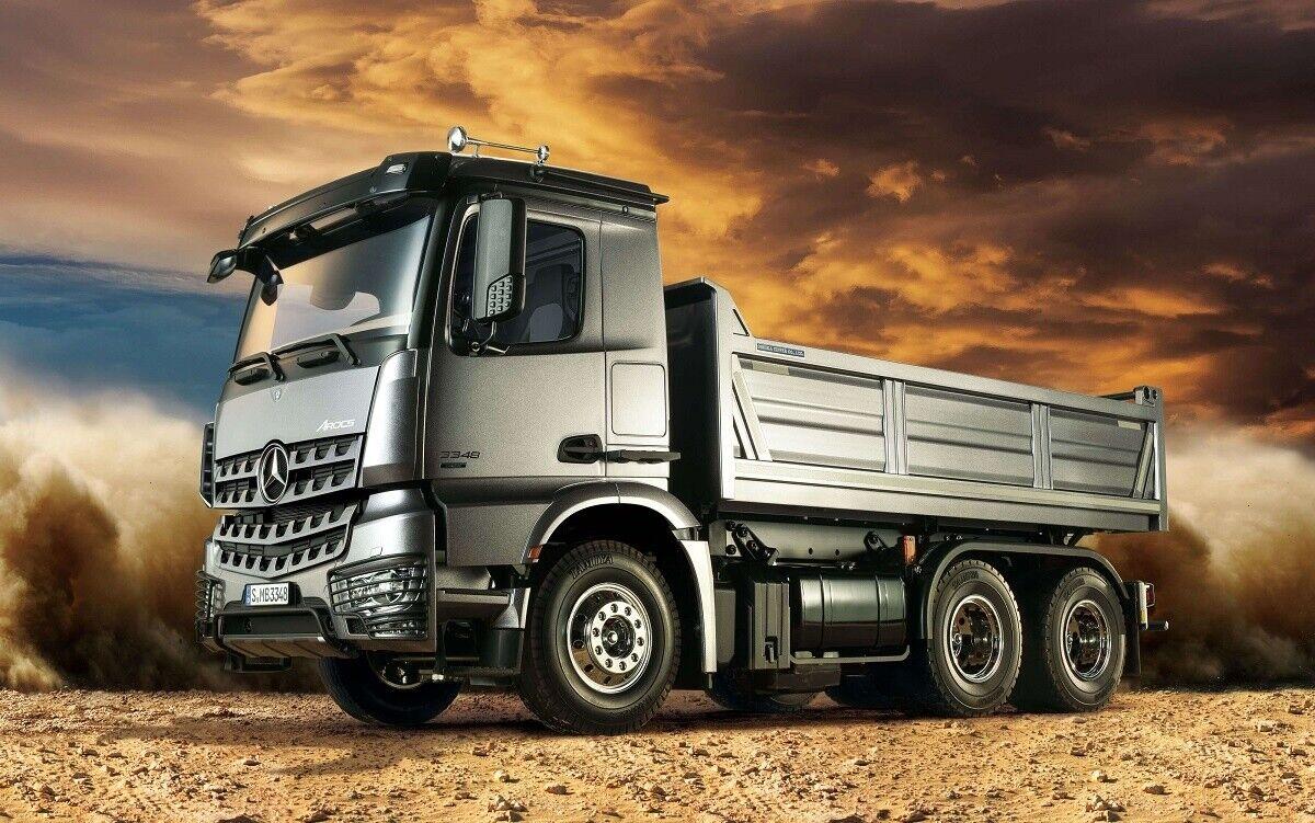 Mercedes Benz Arocs 3348 Hinterkipper Bausatz 6x4 Tamiya, 56357 - t300056357    Sonderaktionen zum Jahresende