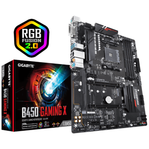 Details about Gigabyte B450 Gaming X Motherboard CPU AM4 AMD Ryzen DDR4 LAN  M 2 DVI HDMI RGB