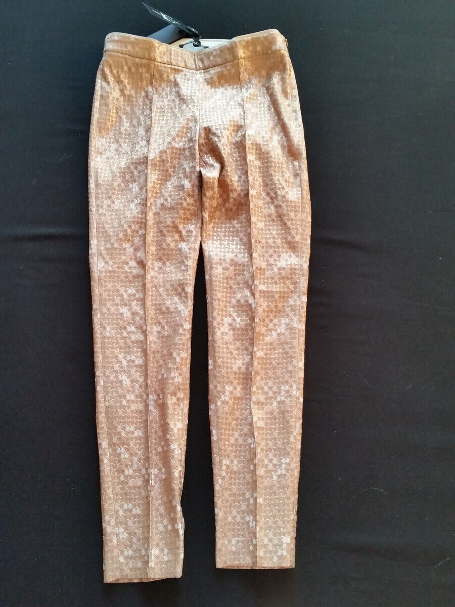 Luisa Cerano Pantalon Metallrosé Brillant Stretch Gr.38  UK12 Uvpo 279,95