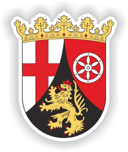 """Rheinland Pfalz Germany coat of arms bumper sticker Aufkleber Deutschland 3/""""x4/"""""""