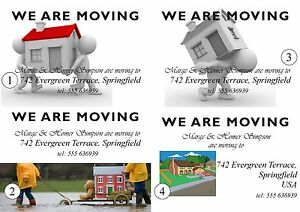 50 Postcards - Change of Address, Moving Home - A6